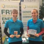 Katie Revoille and Sophie Phillips from S. Dartmoor Community Energy