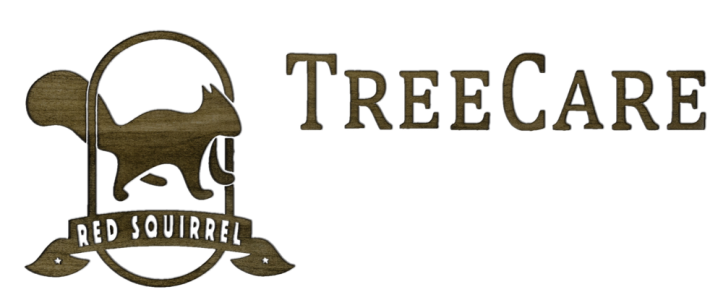 red squirrel tree care logo