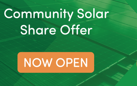 We're excited! Our Community SolarShare is now open