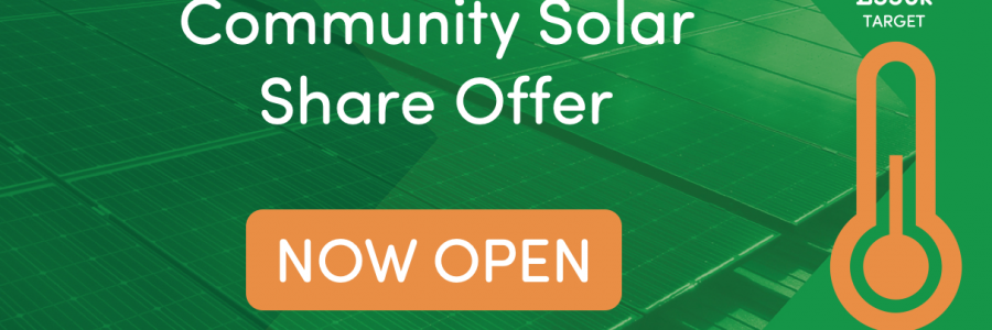 We're excited! Our Community Solar Share is now open